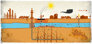 Picture: Fracking still - from the film 'Gasland'